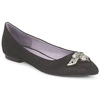 Schuhe Damen Ballerinas Couleur Pourpre TIMEA Schwarz