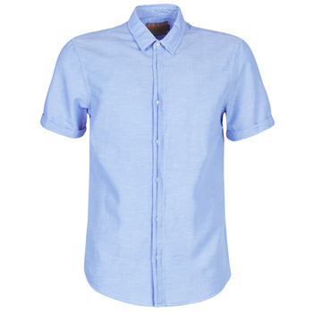 Kleidung Herren Kurzärmelige Hemden Scotch & Soda REGULAR FIT AMS BLAUW ALLOVER PRINT SHIRT IN SEASONAL PATTER Blau