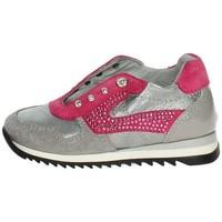 Schuhe Kinder Sneaker Low Blumarine C1554 Anthrazitgrau