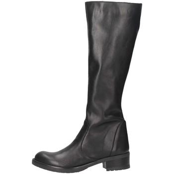 Schuhe Damen Klassische Stiefel Bage Made In Italy 108 NERO schwarz