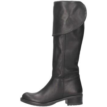 Schuhe Damen Klassische Stiefel Bage Made In Italy 109 NERO schwarz