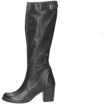 Schuhe Damen Klassische Stiefel Bage Made In Italy 231 NERO schwarz