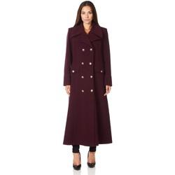Kleidung Damen Mäntel De La Creme Langer Wintermantel aus Wollkaschmir Red