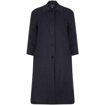 Kleidung Damen Mäntel David Barry Einreihiger langer Wintermantel aus Wolle und Kaschmir Grey