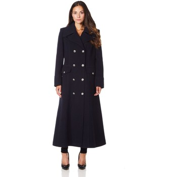 Kleidung Damen Mäntel De La Creme Langer Wintermantel aus Wollkaschmir BEIGE