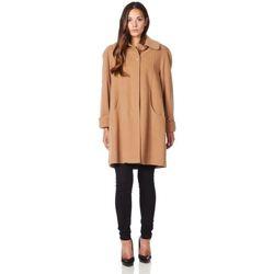 Kleidung Damen Mäntel De La Creme Swing Wool Cashmere Wintermantel BEIGE
