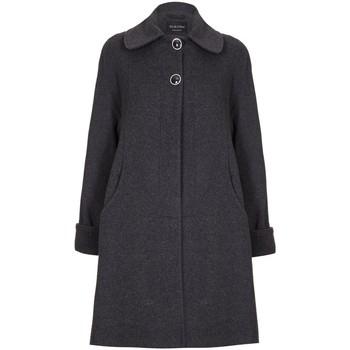 Kleidung Damen Mäntel De La Creme Swing Wool Cashmere Wintermantel Grey