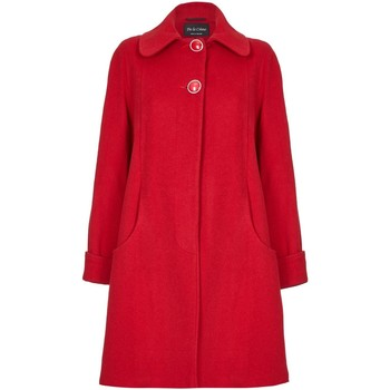 Kleidung Damen Mäntel De La Creme Swing Wool Cashmere Wintermantel Red