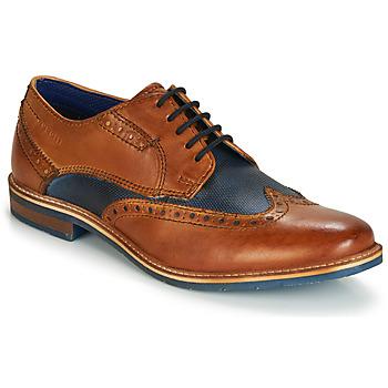 Schuhe Herren Derby-Schuhe Bugatti TROISCINQ Cognac / Blau