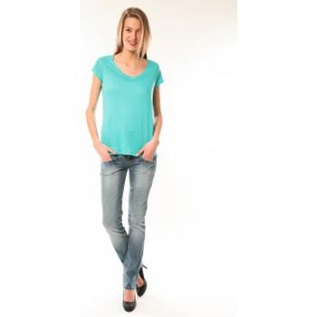 Kleidung Damen T-Shirts Little Marcel T-Shirt Talin E15FTSS0116 Bleu Turquoise Blau