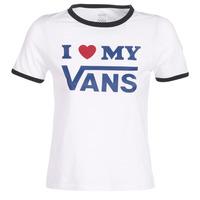 Kleidung Damen T-Shirts Vans VANS LOVE RINGER Weiss