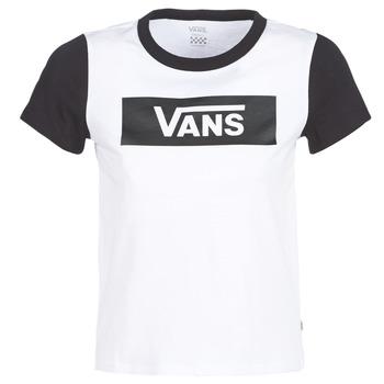 Kleidung Damen T-Shirts Vans V TANGLE RANGE RINGER Weiss