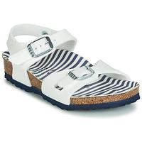 Schuhe Mädchen Sandalen / Sandaletten Birkenstock RIO Weiss