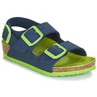 Schuhe Jungen Sandalen / Sandaletten Birkenstock Milano Blau / Grün