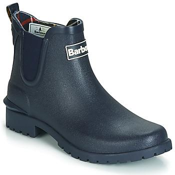 Schuhe Damen Gummistiefel Barbour WILTON Blau