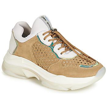 Schuhe Damen Sneaker Low Bronx BAISLEY Weiss / Braun