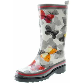 Schuhe Damen Gummistiefel Beck Schmetterling 853 50 Grau