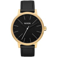 Uhren Analoguhren Nixon RELOJ  KENSINGTON LEATHER Schwarz