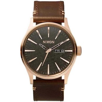 Uhren Analoguhren Nixon RELOJ  SENTRY LEATHER Braun