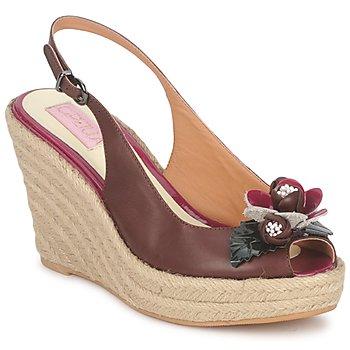 Schuhe Damen Sandalen / Sandaletten C.Petula GLORIA Braun / Fuchsienrot