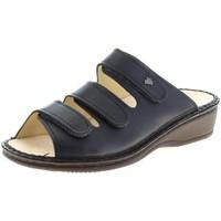 Schuhe Damen Pantoffel Finn Comfort Pantoletten PISA 02501001040 001040 blau