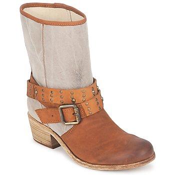 Schuhe Damen Klassische Stiefel Ikks INES Braun / Maulwurf