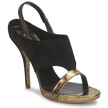 Schuhe Damen Sandalen / Sandaletten Gaspard Yurkievich T4 VAR7 Schwarz / Goldfarben