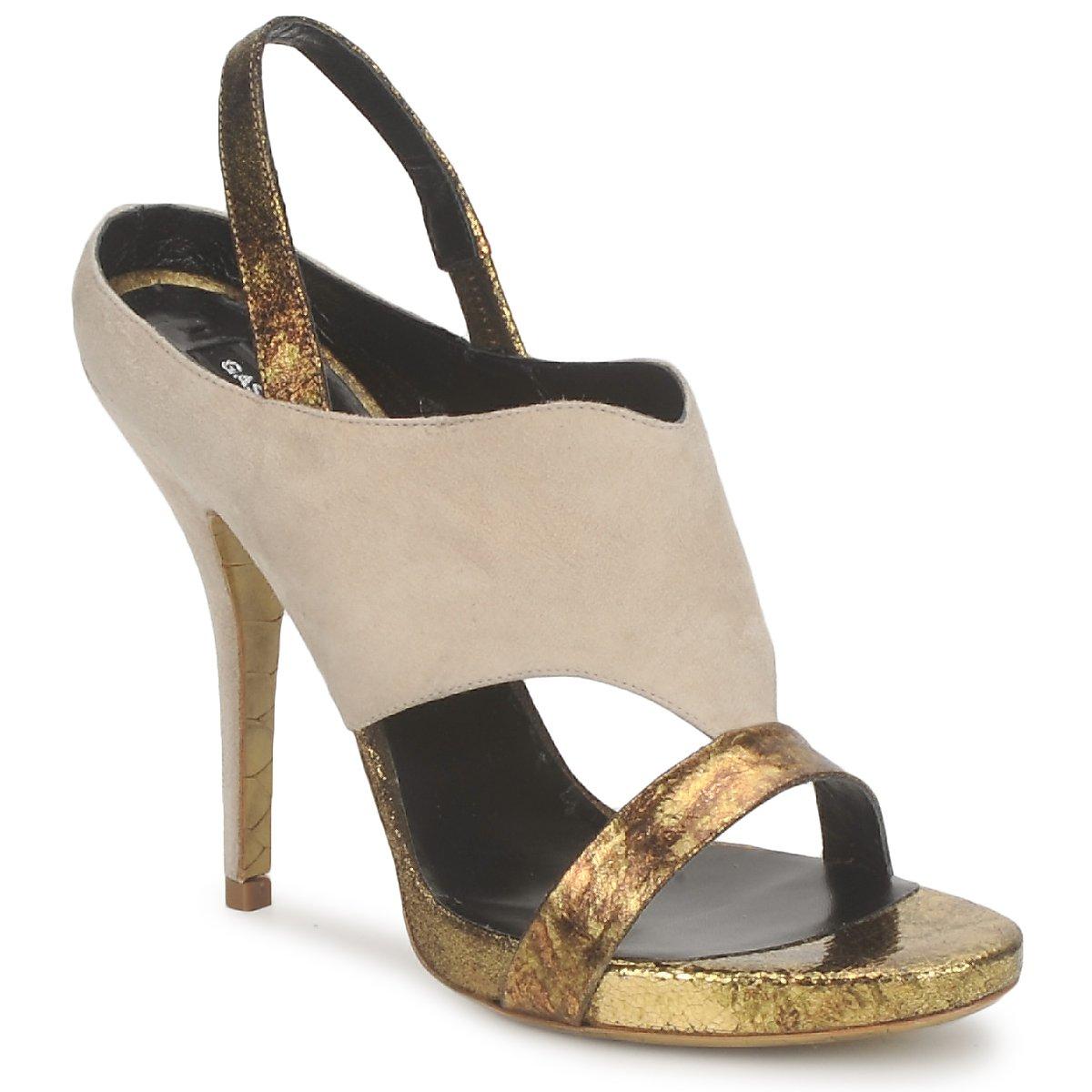 Gaspard Yurkievich T4 VAR8 Beige / Goldfarben - Kostenloser Versand bei Spartoode ! - Schuhe Sandalen / Sandaletten Damen 335,40 €