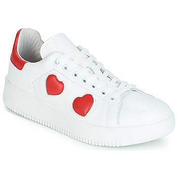 Schuhe Damen Sneaker Low Yurban JIBOUILLE Weiss
