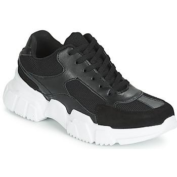 Schuhe Damen Sneaker Low Yurban JILIBELLE Schwarz / Weiss
