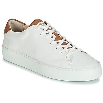 85943f63056c50 Schuhe Damen Sneaker Low Pataugas KELLA Weiss   Cognac