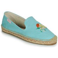 Schuhe Damen Leinen-Pantoletten mit gefloch Banana Moon LAIRIS Blau