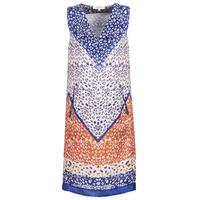 Kleidung Damen Kurze Kleider Derhy FORTERESSE Weiss / Blau / Orange