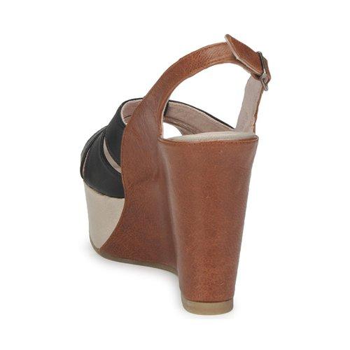 Paco Gil RITMO SELV Camel / Schwarz  Schuhe Sandalen / Sandaletten Damen 124,50