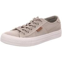 Schuhe Damen Sneaker Low Dockers by Gerli Leinen Schnürhalbschuh 40TH201-790210 grau
