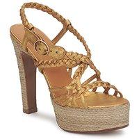 Schuhe Damen Sandalen / Sandaletten Michel Perry 12716 Gold