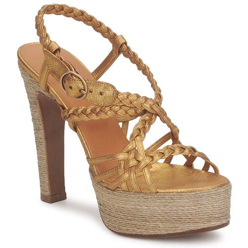 Michel Perry 12716 Gold Schuhe Sandalen / Sandaletten Damen 309,50