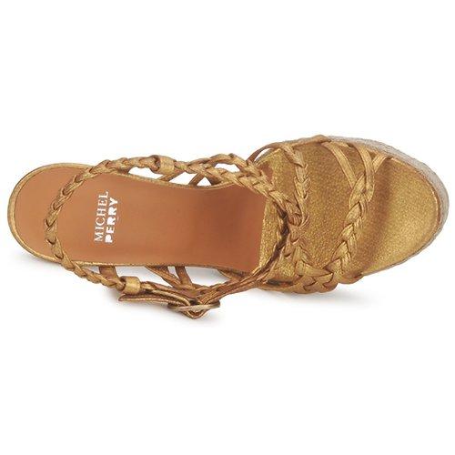 Michel Perry 12716 Gold  Schuhe Sandalen / Sandaletten Damen 495,20