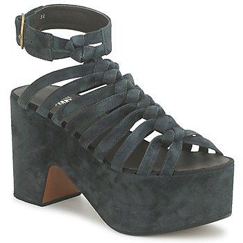 Schuhe Damen Sandalen / Sandaletten Michel Perry 12676 Dark