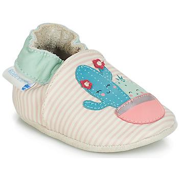 Schuhe Mädchen Babyschuhe Robeez CACTUS Naturfarben / Rose