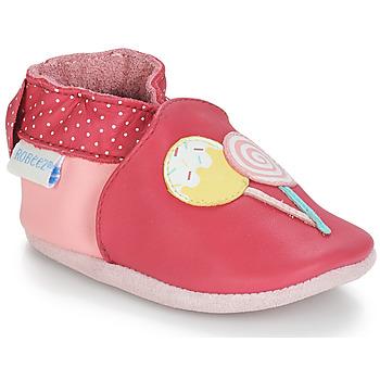 Schuhe Mädchen Babyschuhe Robeez FUNNY SWEETS Rose / Weiss