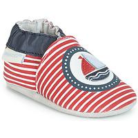 Schuhe Jungen Hausschuhe Robeez MY CAPTAIN Rot / Blau / Weiss