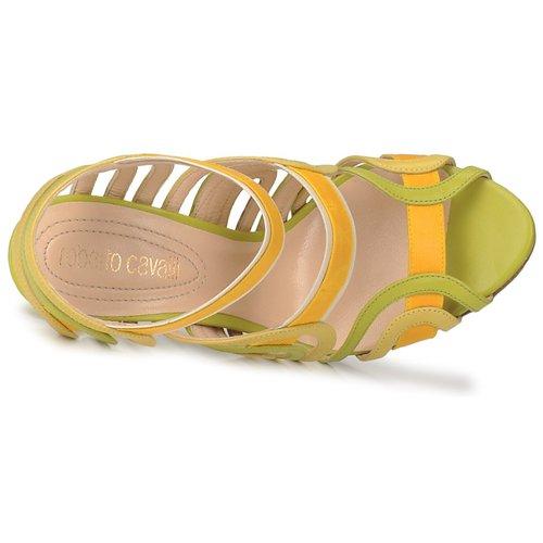 Roberto Cavalli RPS691 Grün / Gelb    Schuhe Sandalen / Sandaletten Damen 519,20 c9c7fe