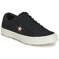 Schuhe Damen Sneaker Low Converse ONE STAR LOVE IN THE DETAILS SUEDE OX Schwarz