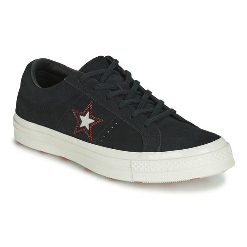 Converse ONE STAR LOVE IN THE DETAILS SUEDE OX Schwarz  Schuhe Sneaker Low Damen