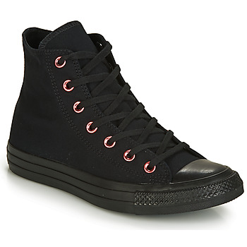 Schuhe Damen Sneaker High Converse CHUCK TAYLOR ALL STAR HEARTS CANVAS HI Schwarz