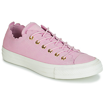 Schuhe Damen Sneaker Low Converse CHUCK TAYLOR ALL STAR FRILLY THRILLS SUEDE OX Rose