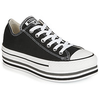 Schuhe Damen Sneaker Low Converse CHUCK TAYLOR ALL STAR PLATFORM EVA LAYER CANVAS OX Schwarz