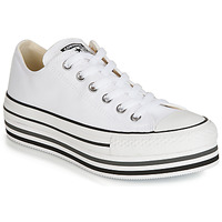 Schuhe Damen Sneaker Low Converse CHUCK TAYLOR ALL STAR PLATFORM EVA LAYER CANVAS OX Weiss