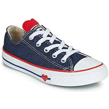 Schuhe Mädchen Sneaker Low Converse CHUCK TAYLOR ALL STAR SUCKER FOR LOVE DENIM OX Blau